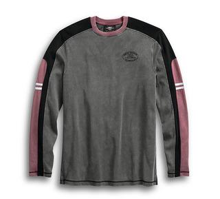 カラーブロック・スリープ・Tシャツ
