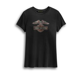 ディストレスト・イーグル・ロゴ・Tシャツ