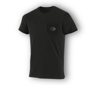 ハイデンシティ・プリント・スリムフィット・ポケット・Tシャツ