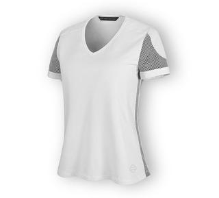 3Dメッシュ・アクセント・Tシャツ