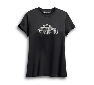 ディストレスト・バナー・ロゴTシャツ