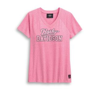 ピンクレーベル・VネックTシャツ