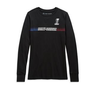 チェストストライプ・ロングスリーブTシャツ