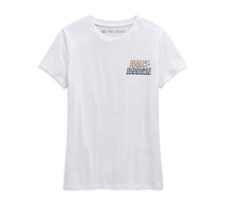 メタリック#1スカルTシャツ