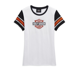ラインストーン付きロゴ・Tシャツ
