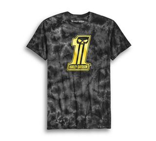 #1スカル・タイダイTシャツ【スリムフィット】