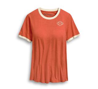 オープン・ロゴ・リンガーTシャツ