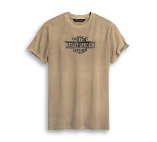 ディストレスト・プリント・ロゴTシャツ