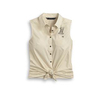 #1スカル・タイフロント・シャツ