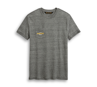 モーターサイクル・グラフィック・ポケットTシャツ【スリムフィット】