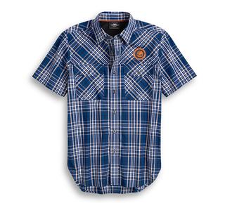 高性能ベント付きプレイドシャツ
