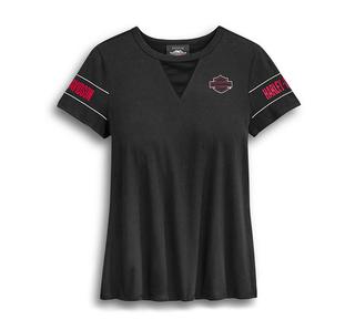 メッシュVネックTシャツ