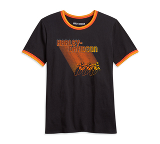 オンブル・レーサー・グラフィックTシャツ
