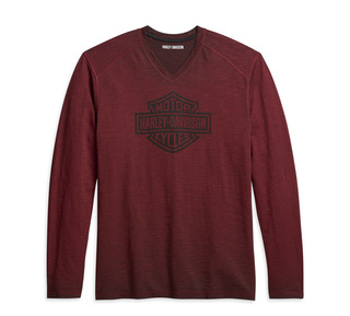 ロゴ・VネックTシャツ