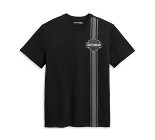 バーティカル・ストライプ・バー&シールド・ロゴ・Tシャツ【Men's】