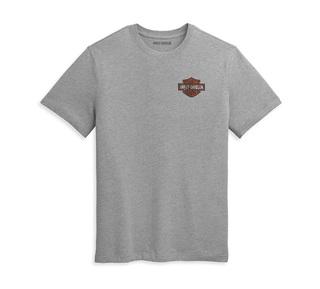 ダブル・バー&シールドロゴ・Tシャツ【Men's】