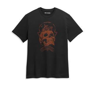 スカル・スペースグラフィックTシャツ【Men's】