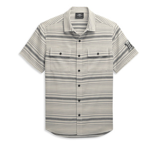 ホリゾンタル・ストライプ#1ロゴ・シャツ【Men's】
