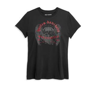 ウィング・スカル・グラフィックTシャツ【Women's】
