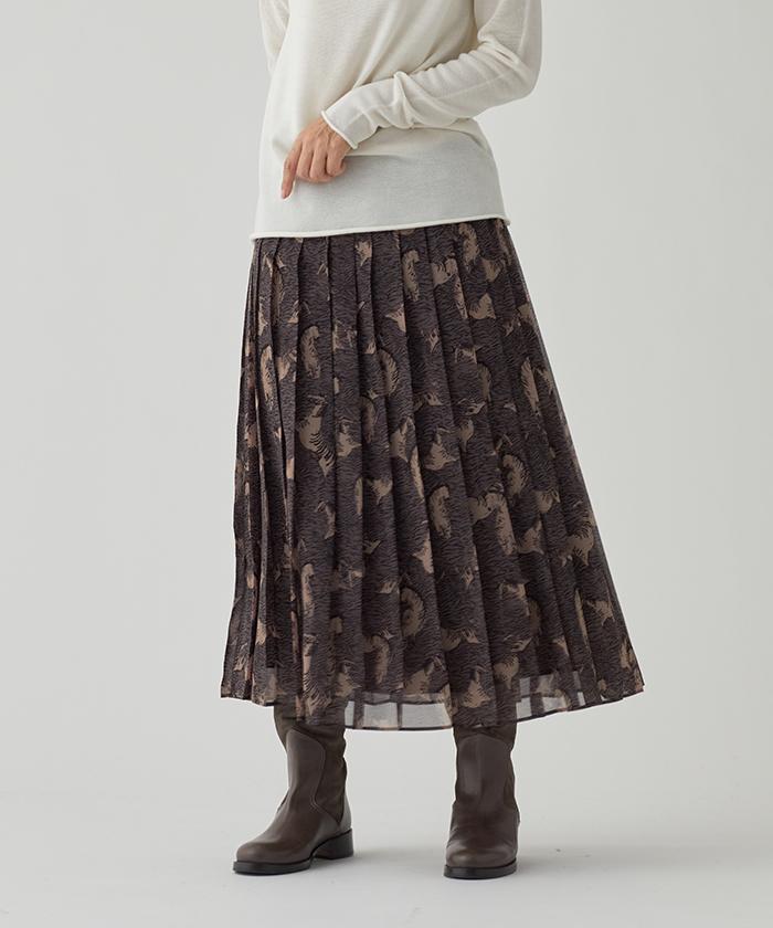 ゼブラプリントプリーツスカート