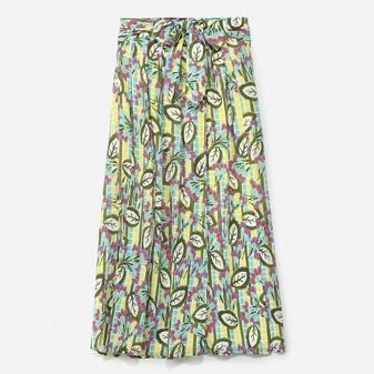 フラワーリーフプリントスカート