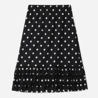 スモールドットプリントスカート