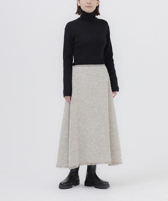 ツイードセミフレアスカート