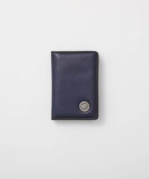 バチューレザー[カードケース]ネイビー×ネイビー6119038278メンズ