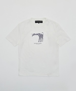 [アニマルプリントTシャツ<キリン>]ホワイト6204660300メンズ&ウィメンズ