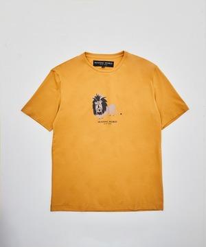 [アニマルプリントTシャツ<ライオン>]イエロー 6204660444メンズ&ウィメンズ