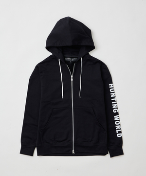 [ロゴプリントフルジップパーカー]ブラック6204610208メンズ