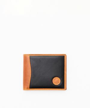 バチューサーパスモンタナ[2つ折りコインケース付き930BSS]ブラック×キャメル6119017006メンズ&ウィメン