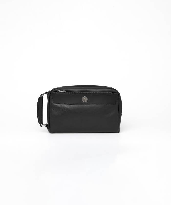 バチューレザー [クラッチバッグ] ブラック×ブラック 424300BLA BKメンズ