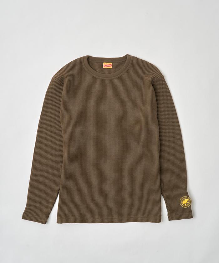 ワッフル長袖Tシャツ by HEALTHKNIT カーキ12TS01KH メンズ&ウィメンズ