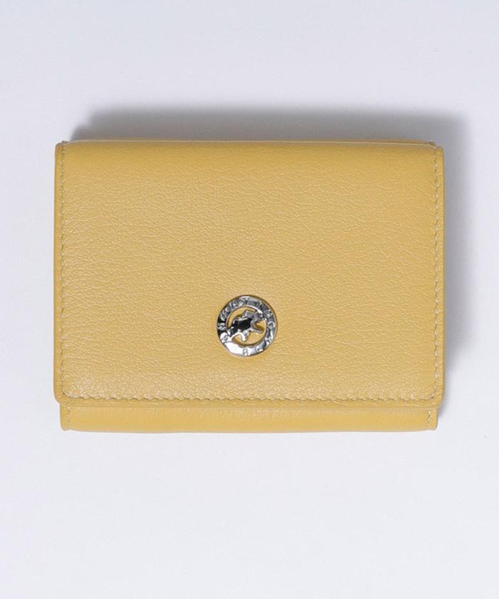 25100VOLヴィオラ[三つ折り財布]イエローWOMENS