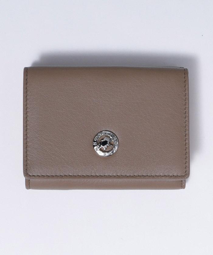 25100VOLヴィオラ[三つ折り財布]ベージュWOMENS