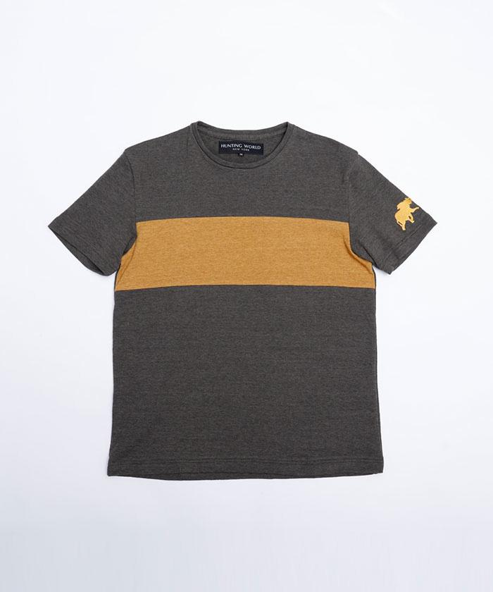 11TS01 [フロントパネルTシャツ] メンズ カーキ