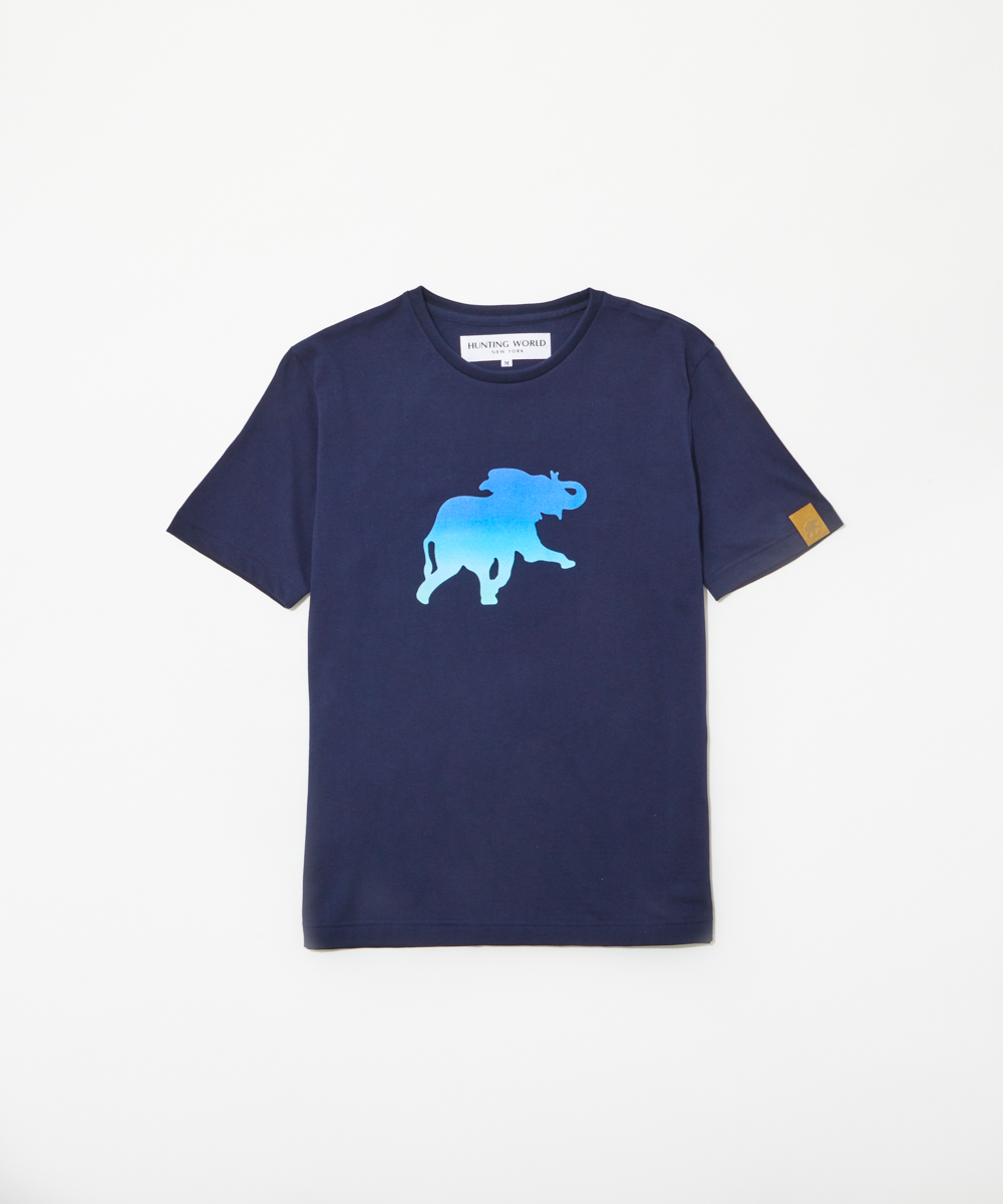 11TS54[プリントTシャツ]ネイビーWOMENS