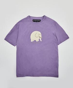 アニマルプリントTシャツ<ゾウ>パープル12TS02PUメンズ&ウィメンズ