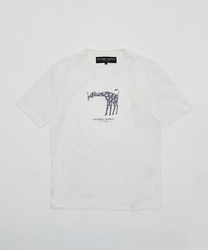 アニマルプリントTシャツ<キリン>ホワイト12TS03WHメンズ&ウィメンズ