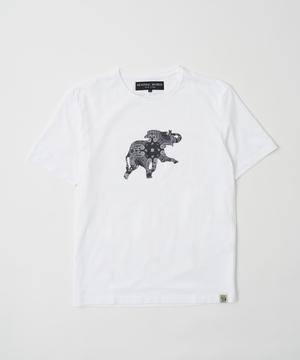 バンダナ柄プリントTシャツ[ボルネオ]ホワイト12BC01WHメンズ