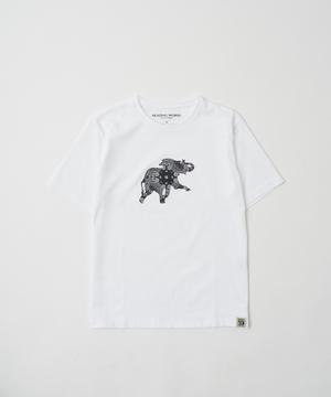 バンダナ柄プリントTシャツ[ボルネオ]ホワイト12BC51WHウィメンズ