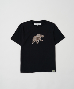 バンダナ柄プリントTシャツ[ボルネオ]ブラック12BC51BKウィメンズ