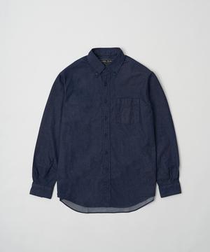 ボダンダウンデニムシャツ ブルー12ST02BLメンズ