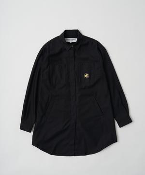 ミリタリーシャツ ブラック12ST52BK ウィメンズ