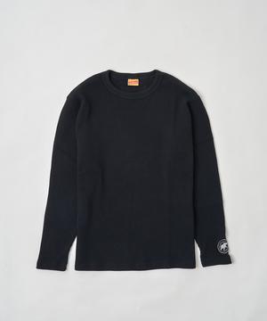 ワッフル長袖Tシャツ by HEALTHKNIT ブラック12TS01BK メンズ&ウィメンズ