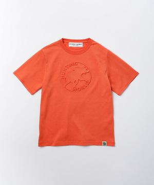 エンボスTシャツ[ボルネオ]ウィメンズ オレンジ01BC51OR