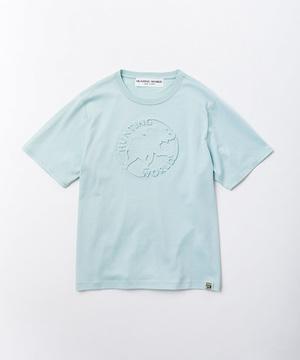01BC51 [エンボス Tシャツ] ウィメンズ ライトブルー