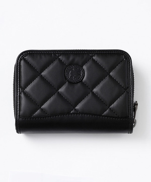 96901BSQ バチュー サーパス キルティング [二つ折り財布] ブラック×ブラック