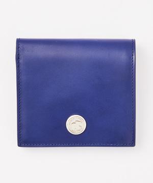 24000LCDルシード[二つ折り財布]ブルー×ブラウンUNISEX